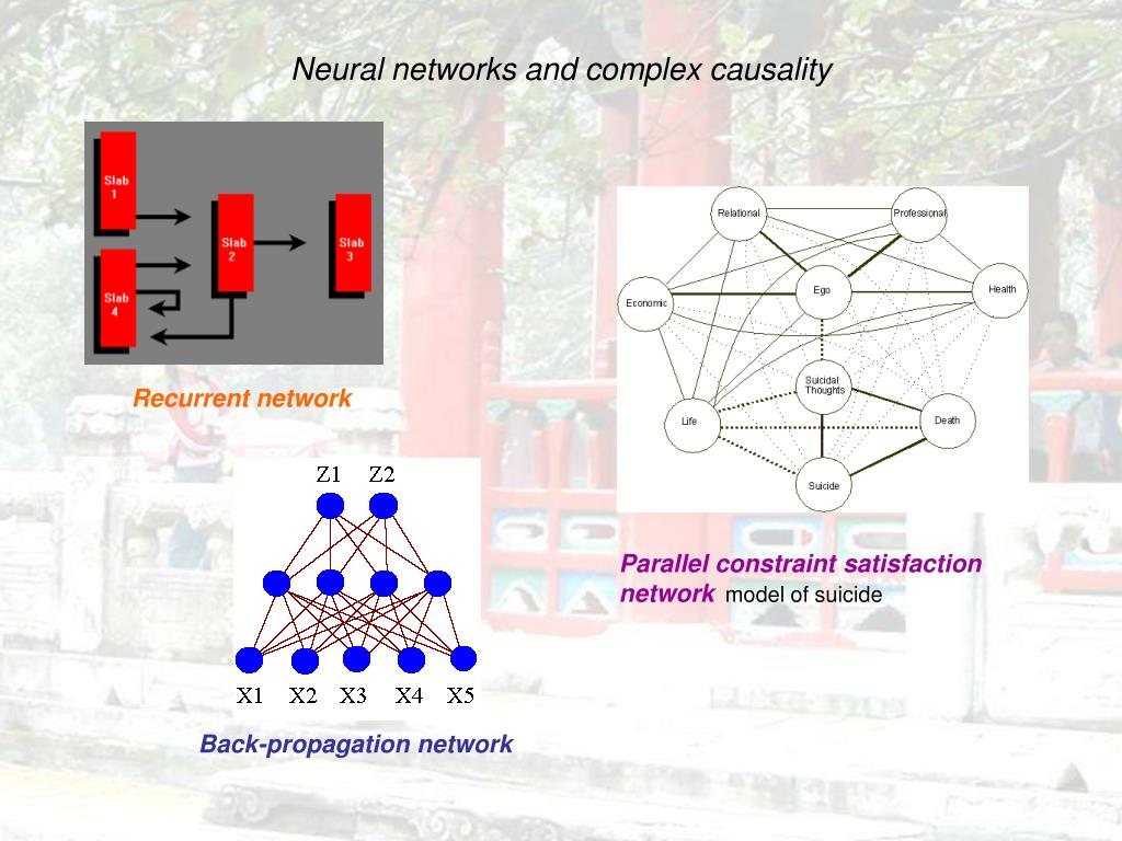 Neural networks and complex causality