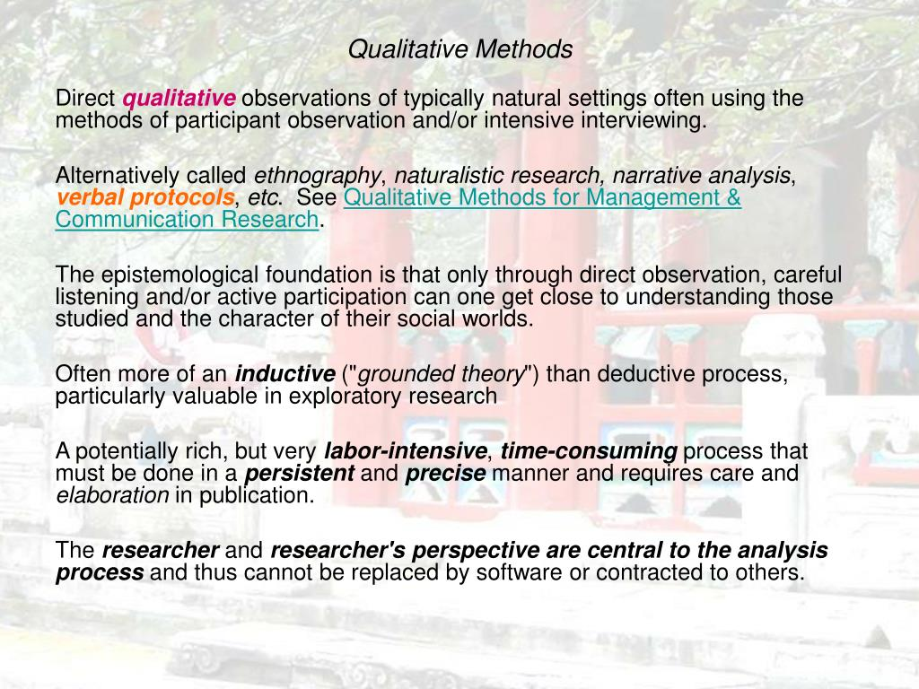 Qualitative Methods