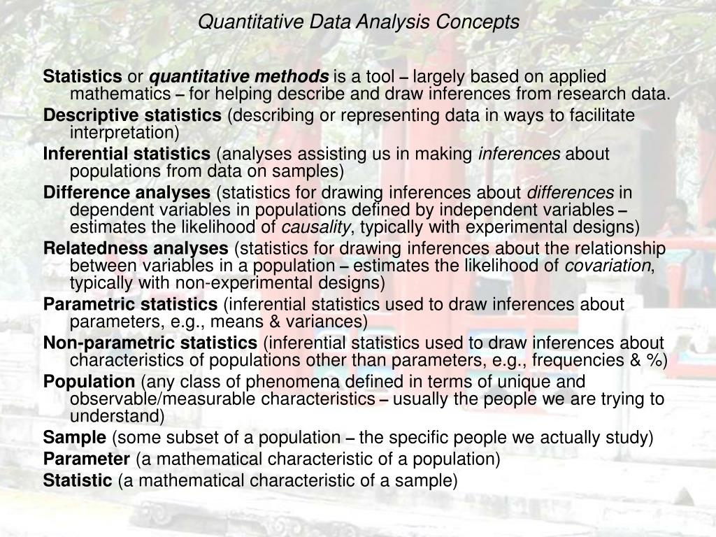 Quantitative Data Analysis Concepts