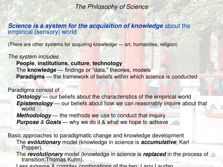 The philosophy of science l.jpg