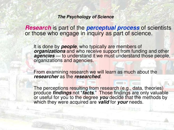 The psychology of science l.jpg