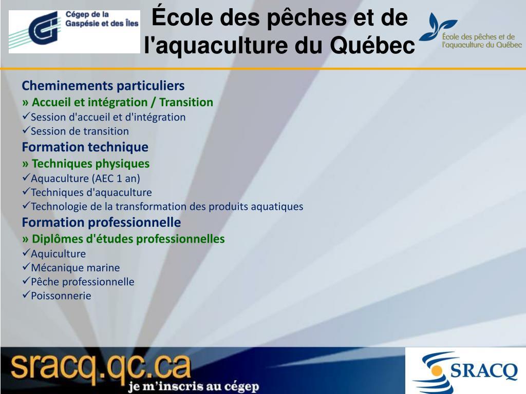 École des pêches et de l'aquaculture du Québec
