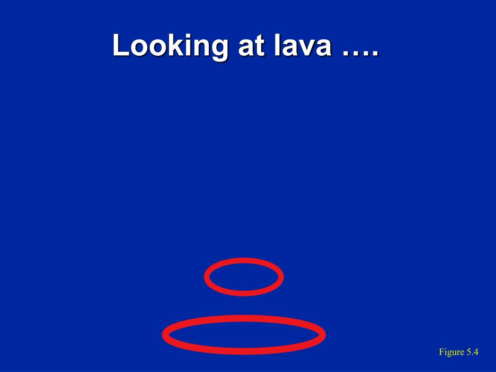 Looking at lava ….