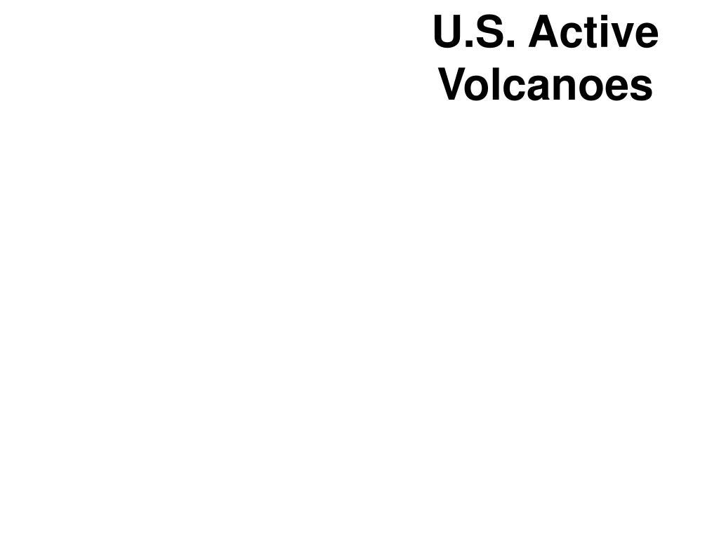 U.S. Active Volcanoes