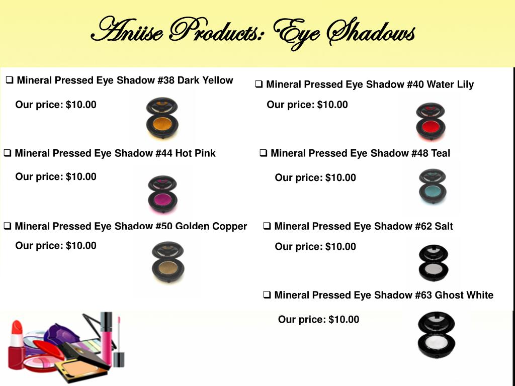 Aniise Products: Eye Shadows