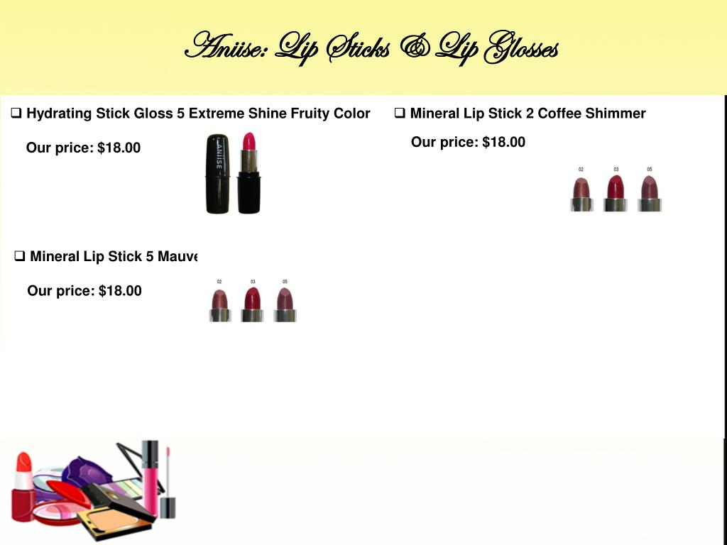 Aniise: Lip Sticks & Lip Glosses