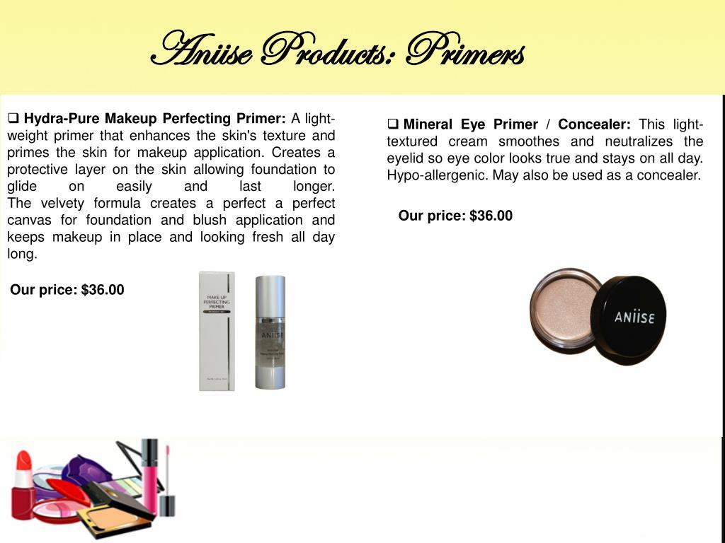 Aniise Products: Primers