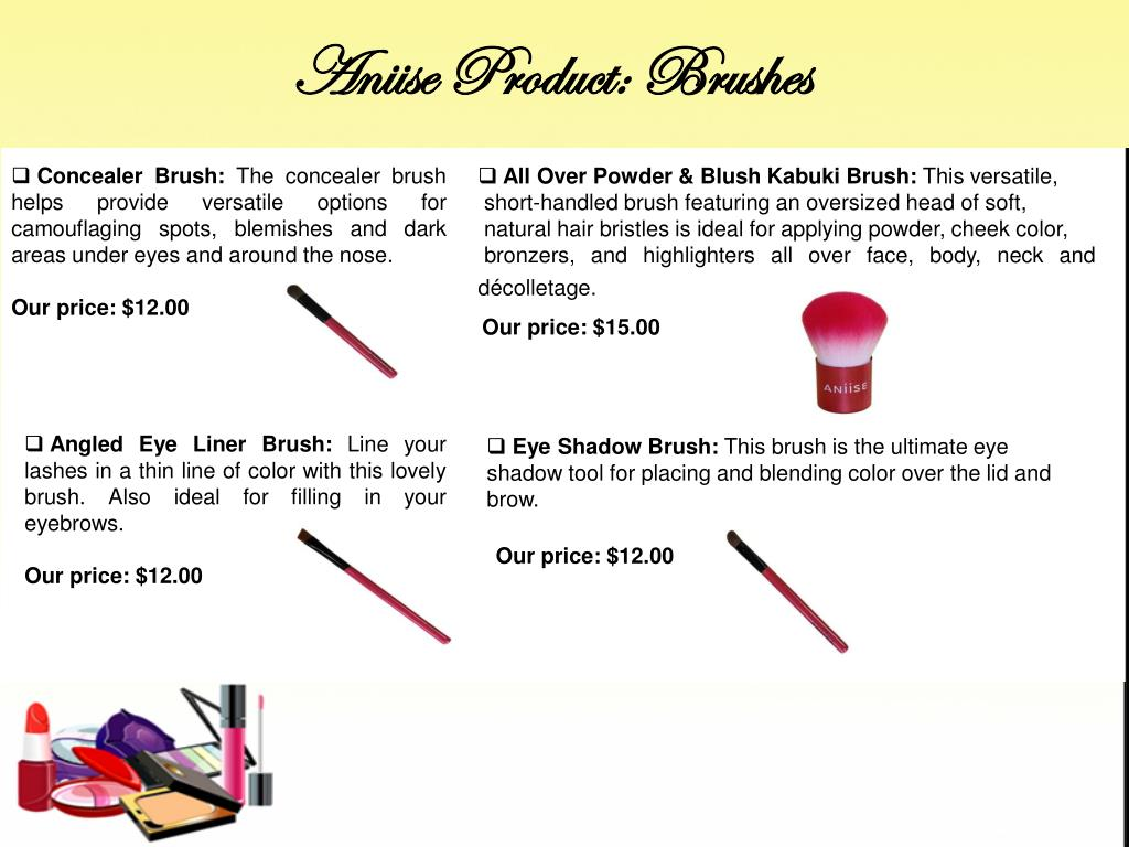 Aniise Product: Brushes