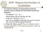 dhp reduce the number of candidates