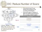dic reduce number of scans