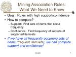 mining association rules what we need to know
