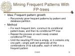 mining frequent patterns with fp trees
