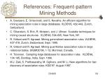 references frequent pattern mining methods125