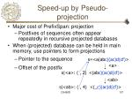 speed up by pseudo projection