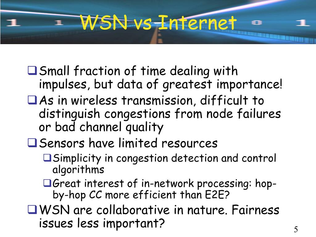 WSN vs Internet