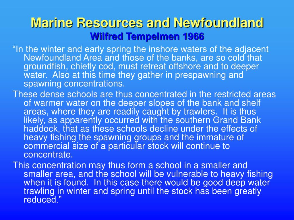 Marine Resources and Newfoundland