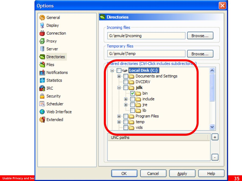 eMule File Sharing UI