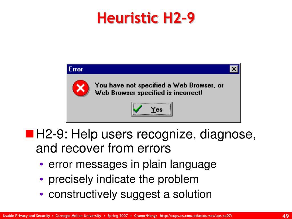 Heuristic H2-9