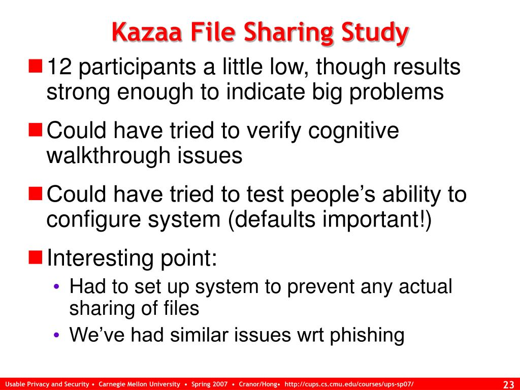 Kazaa File Sharing Study