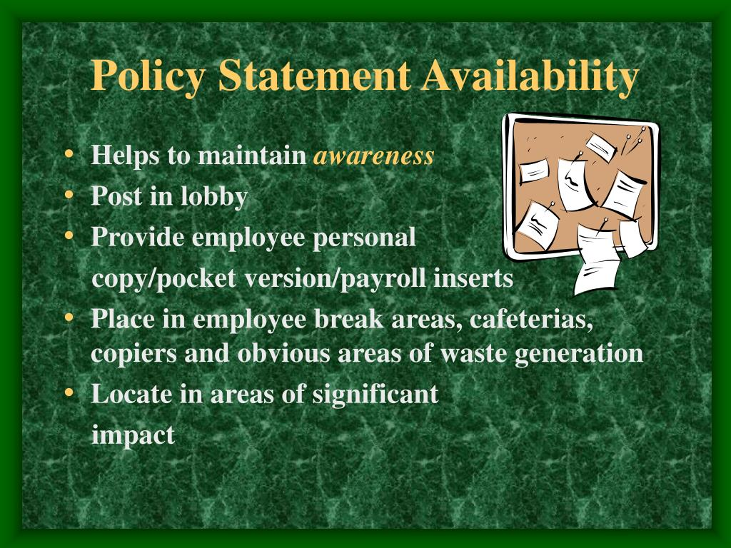 Policy Statement Availability