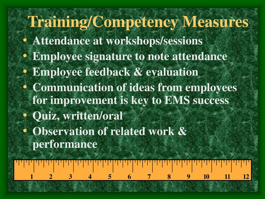 Training/Competency Measures
