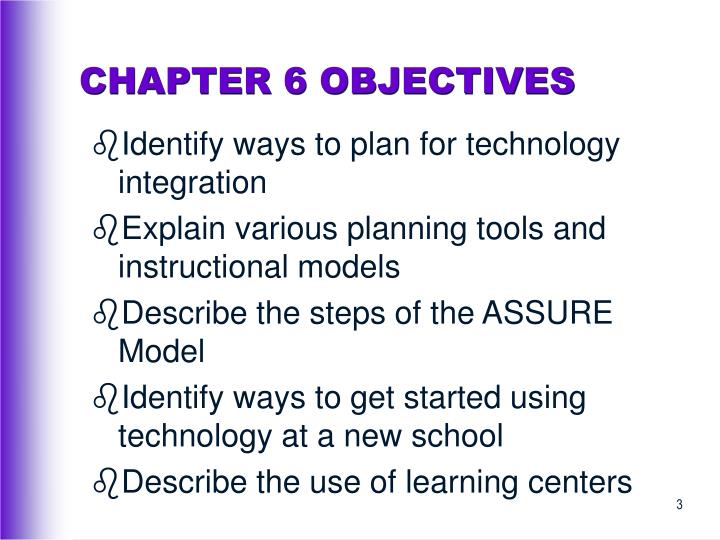 Chapter 6 objectives3
