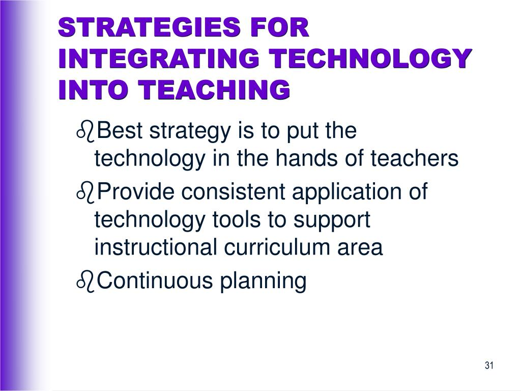 STRATEGIES FOR INTEGRATING TECHNOLOGY INTO TEACHING