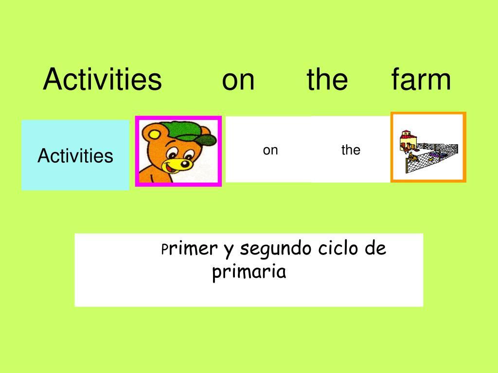 activities on the farm