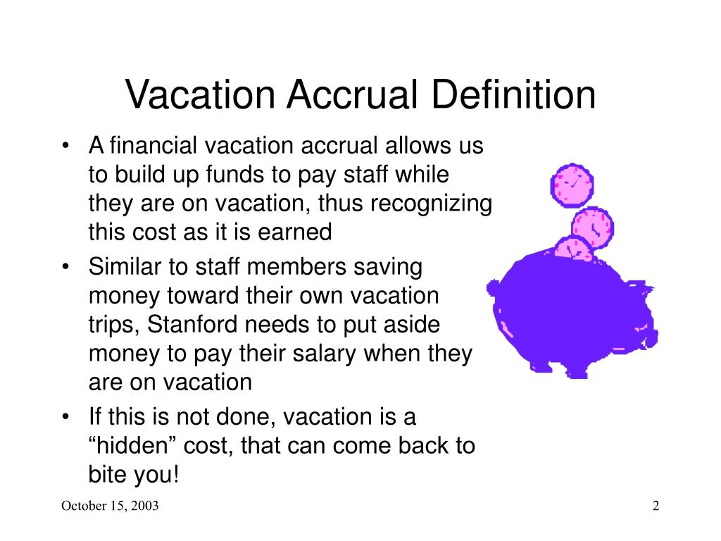 Ppt Vacation And Leave Accrual Agenda Powerpoint