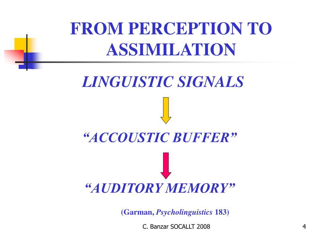 LINGUISTIC SIGNALS