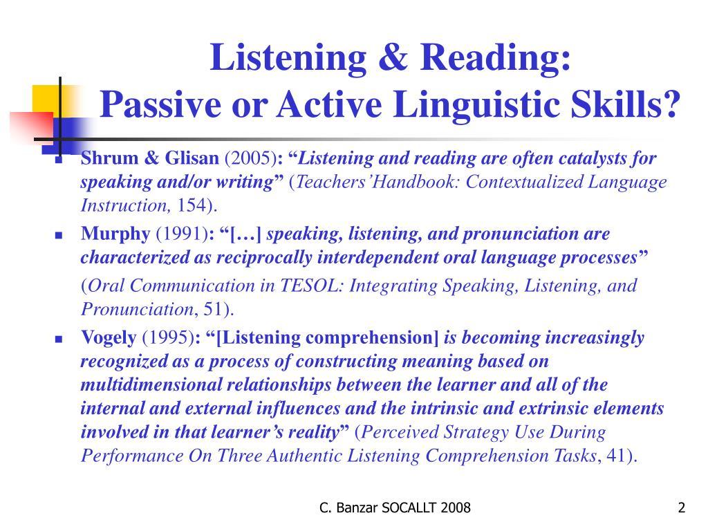Listening & Reading: