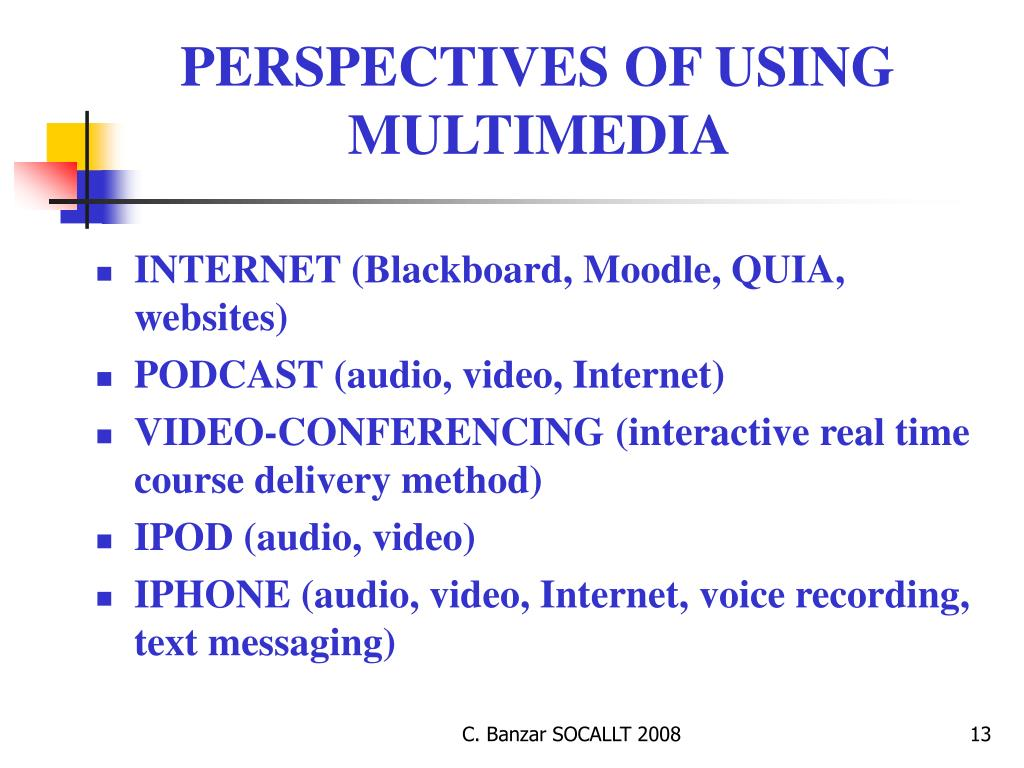 PERSPECTIVES OF USING MULTIMEDIA