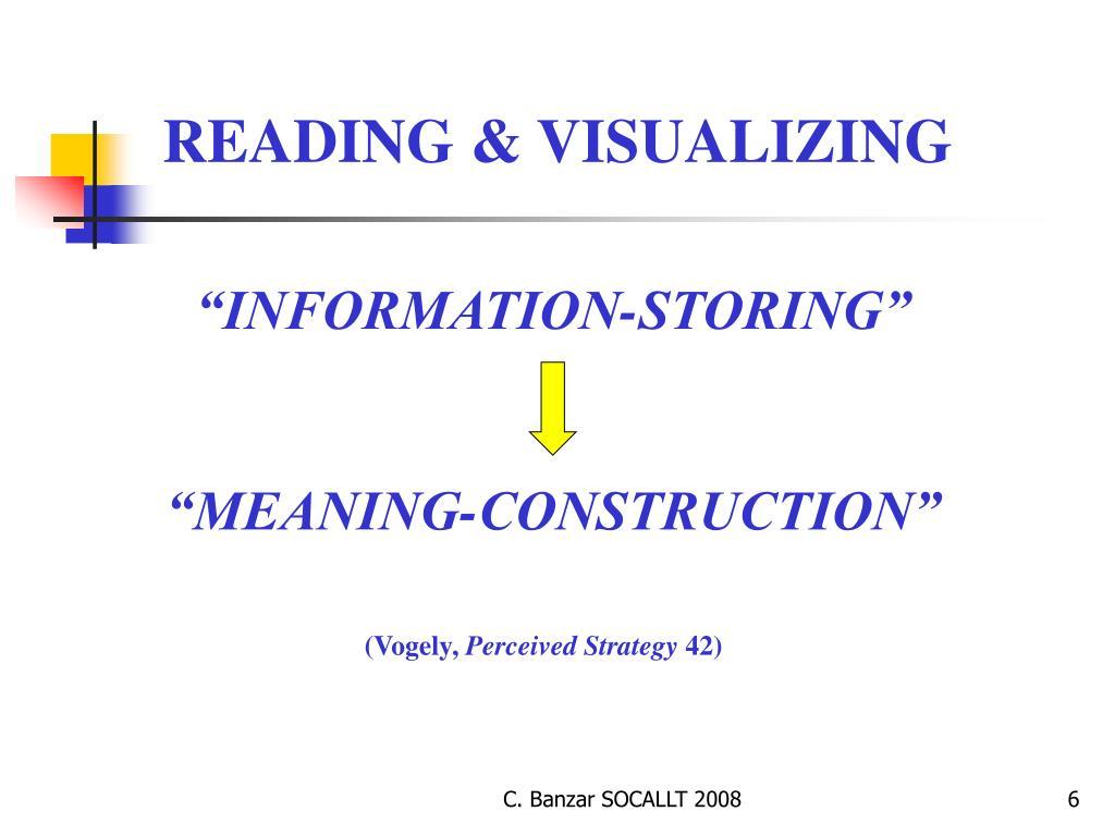 READING & VISUALIZING