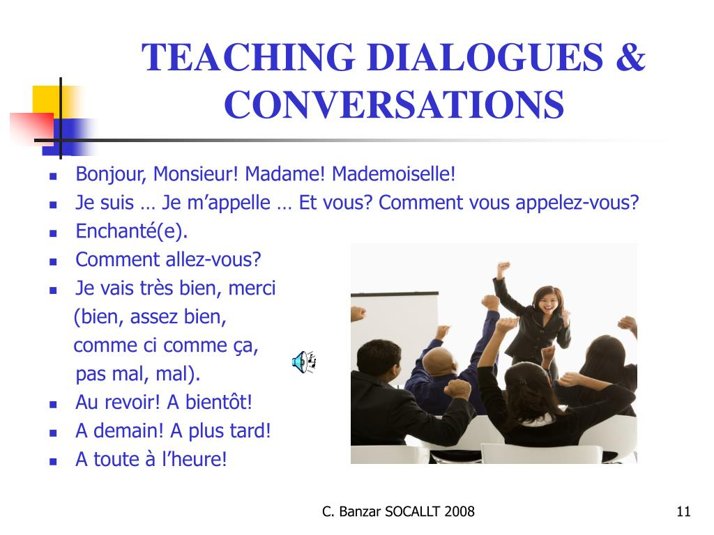 TEACHING DIALOGUES & CONVERSATIONS