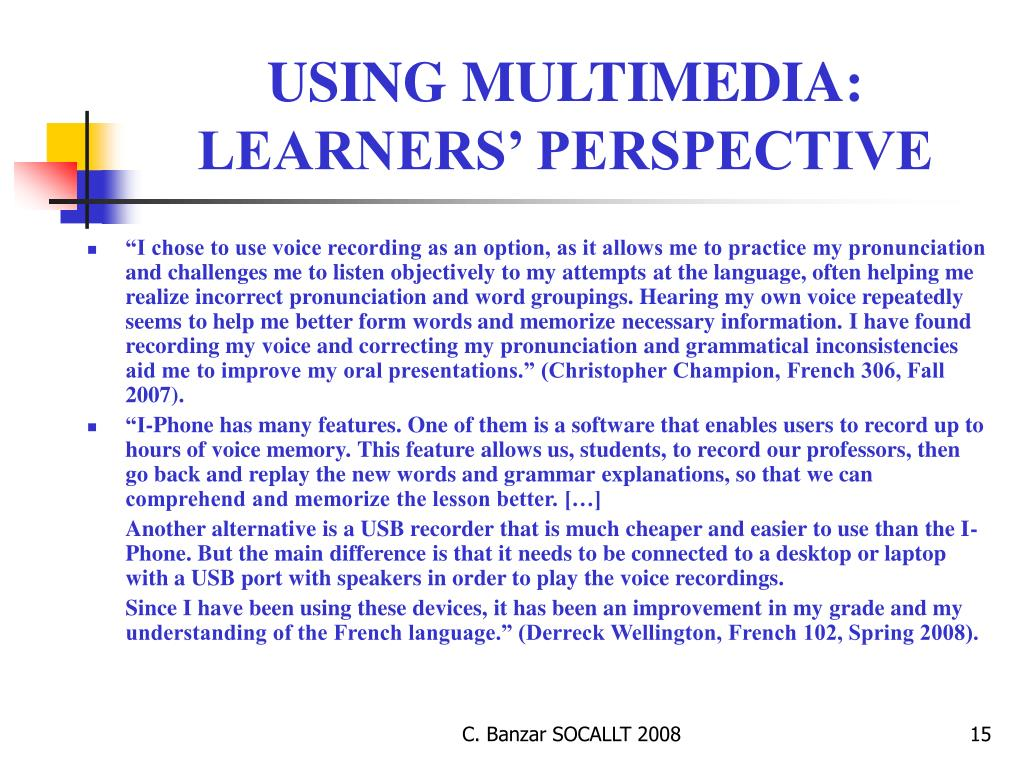 USING MULTIMEDIA: