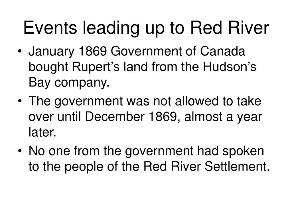 Events leading up to Red River