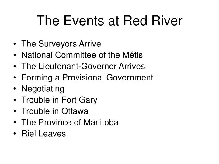 The events at red river