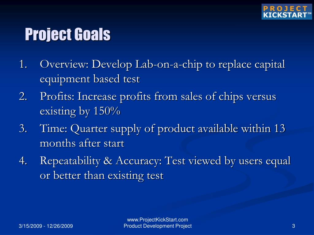 Ppt project kickstart product development project for Lab on a chip template