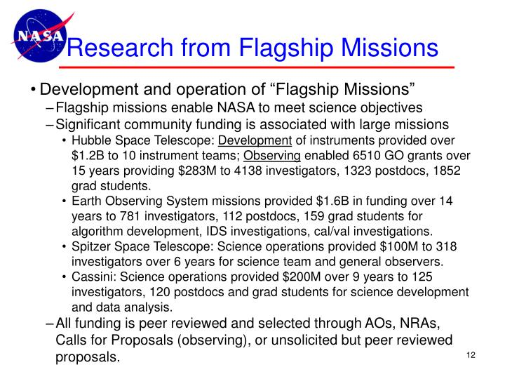 Research from Flagship Missions