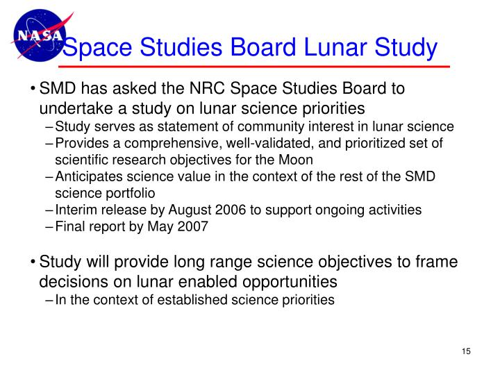 Space Studies Board Lunar Study