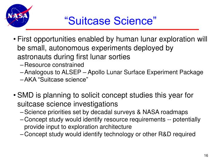 """Suitcase Science"""