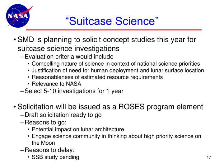 """Suitcase Science"""