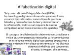alfabetizaci n digital