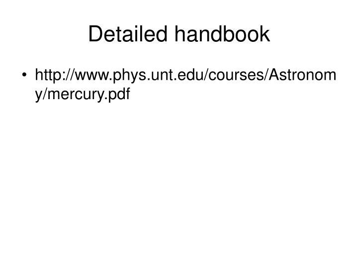 Detailed handbook