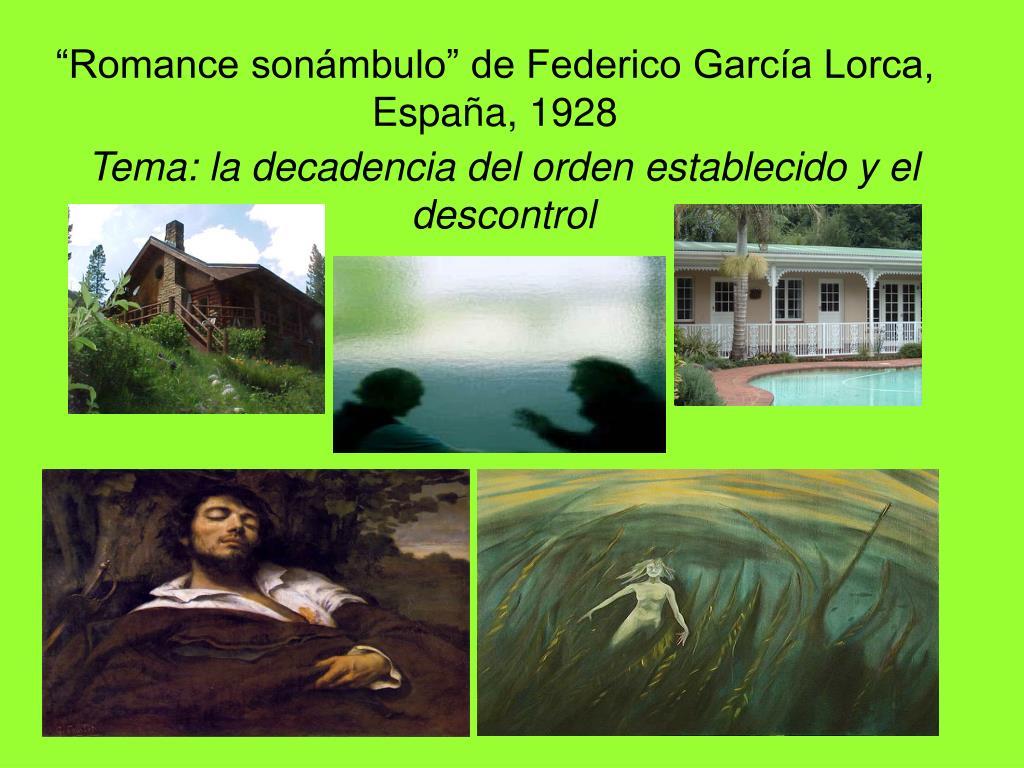 """""""Romance sonámbulo"""" de Federico García Lorca, España, 1928"""