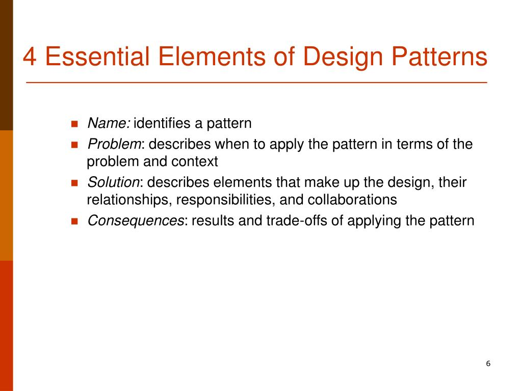 4 Essential Elements of Design Patterns