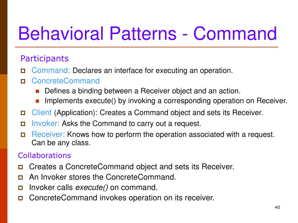 Behavioral Patterns - Command