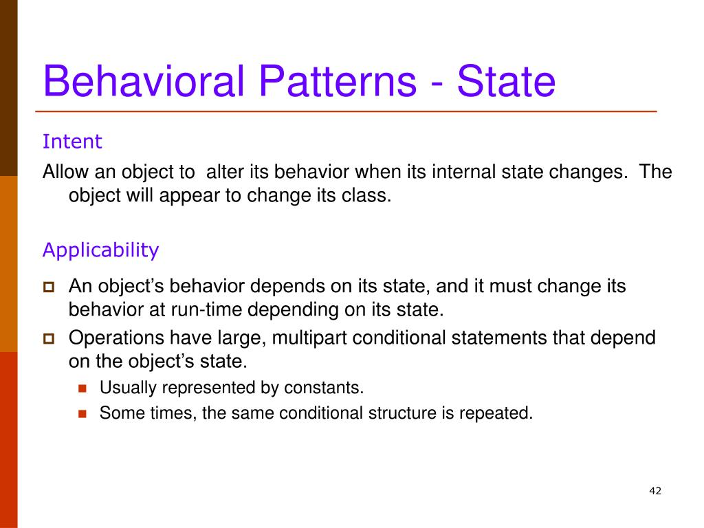 Behavioral Patterns - State