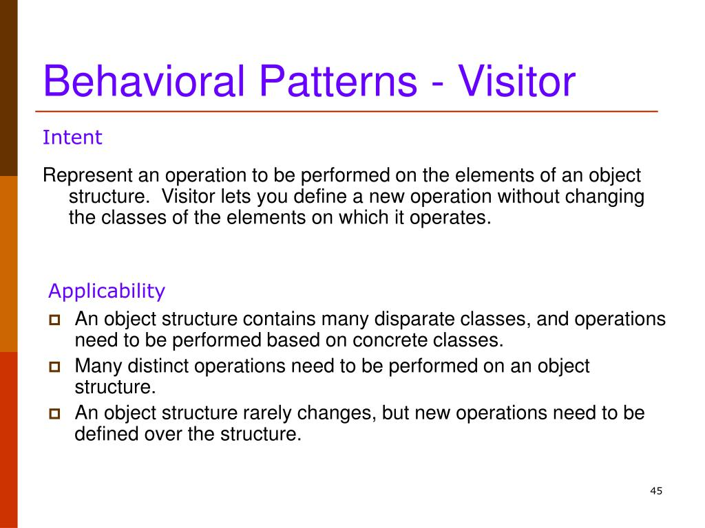 Behavioral Patterns - Visitor