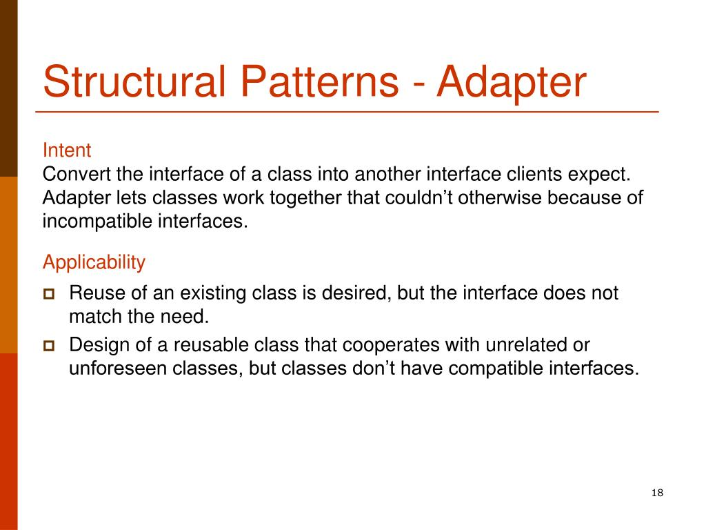 Structural Patterns - Adapter